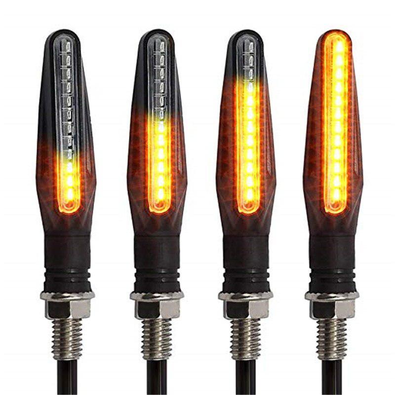 Justech 4PCs Turn Signal Light Universal Motorcycle Motorbike 10W High Power Bulb Lamp Turn Signal Indicator Amber Light Waterproof for M10 Motorcycle E-Marked