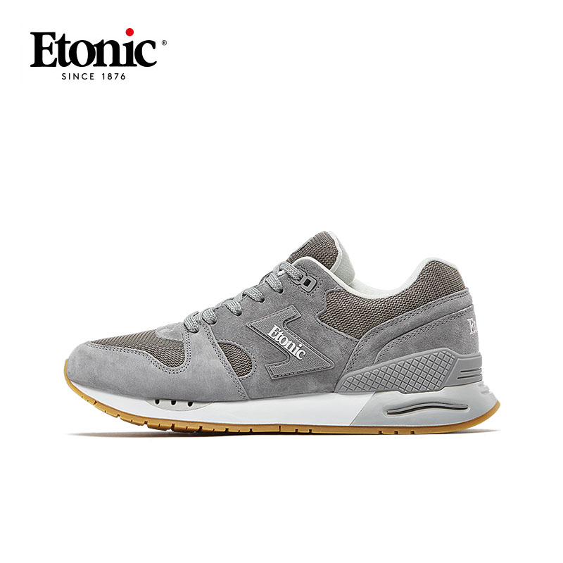 ETONIC Men's Running Shoes Genuine Leather Sport Shoes Breathable Shockproof Light Sneakers Men Outdoor Walking Fitness Shoes