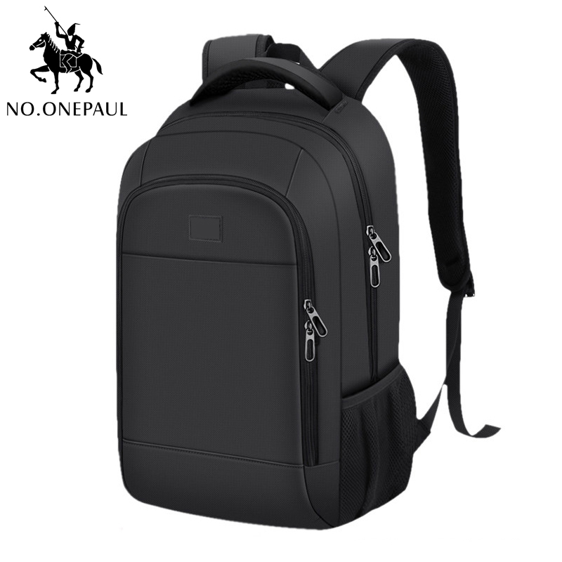 NO.ONEPAUL New School Fashion Business Men Backpack Bag WaterProof USB Charge Bags Laptop Backpack Travel Bags Free Shipping
