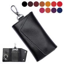 Keychain Men Wallet Pouch Organizer Key-Holder Genuine-Leather Card-Bag Mini Women Housekeeper