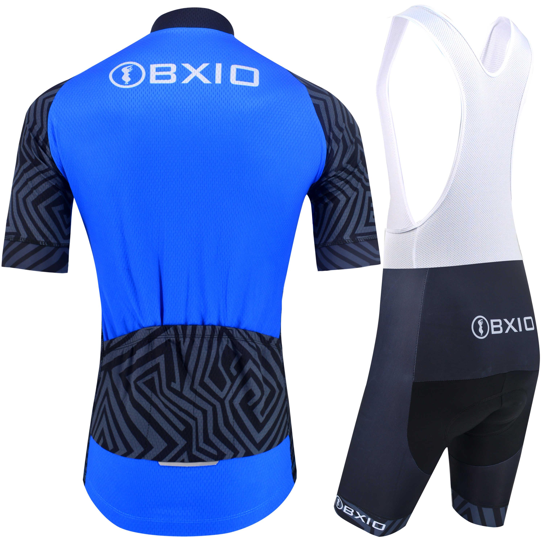 Bxio Bersepeda Pakaian untuk Pria Lengan Pendek Bernapas 5D Gel Pad Bib Celana Pendek Quich-Dry Bersepeda Wear 207