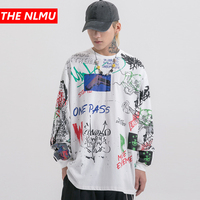 Harajuku Pullover Men Women Creative Graffiti Print Sweatshirts Mens Hipster Rock Hip Hop Streetwear Sweat Shirts Tops WG486