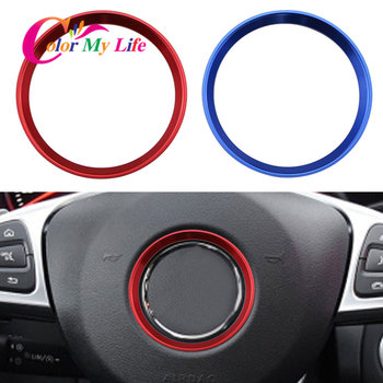 Color My Life Car Steering Wheel Circle Decoration Sequins Ring Trim for Mercedes Benz E200 E300 W212 2017 2018 Accessories image