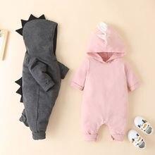Осенне зимняя хлопковая одежда для маленьких девочек милый однотонный