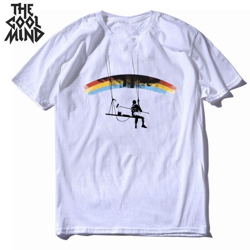 COOLMIND 100% cotton short sleeve funny men T shirt casual cool summer men Tshirt o-neck loose men t-shirt mens tee shirts