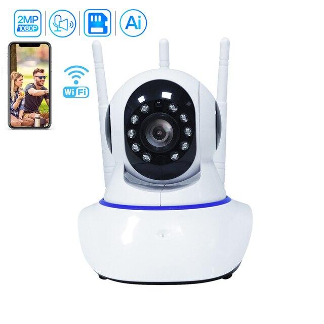 Inesun [2020 mais novo] câmera de segurança sem fio interna inteligente 1080 p casa câmera ip wi fi para monitor do bebê 2 way áudio rastreamento automático