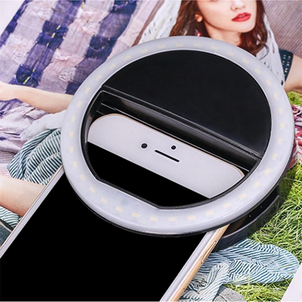 H0e39c22399754faea0d91ea6dbef96edV - Universal Selfie LED Flash Ring Light Portable Lamp Mobile Phone Lens For iPhone Xiaomi mi9t Samsung S10 S9 Luminous Ring Clip