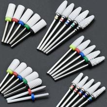 Timistory ceramiczne wiertło do paznokci elektryczny frez do paznokci do Manicure Pedicure akcesoria do paznokci narzędzie usuń lakier do paznokci tanie tanio XC C M F XF Nail drill bit white nail drill pedicure dental drill manicure 3 32 (2 35mm)