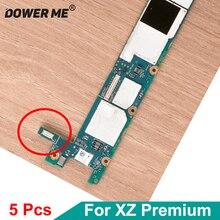 5 adet/grup anakart şarj portu şarj standı Flex kablo FPC konektörü fiş Sony Xperia XZ Premium için G8142 G8141 XZP