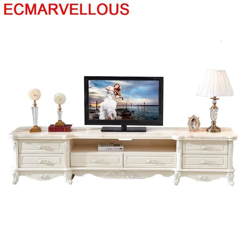 Support Ordinateur Bureau Modern Ecran Plat Cabinet Lemari European Wood Monitor Mueble Living Room Furniture Table Tv Stand
