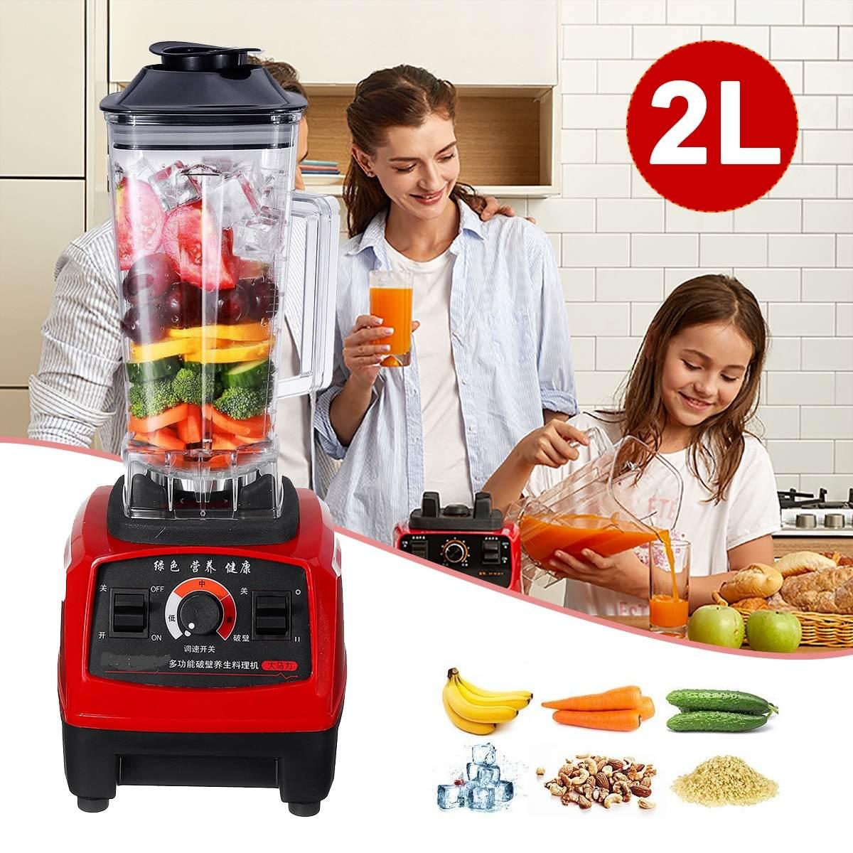 800W 2L Heavy Duty Commercial Blender Professional Blender Mixer Food Processor Japan Blade Juicer Ice Smoothie Machine