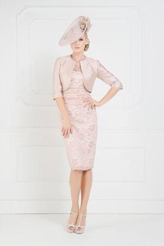 Free Shipping Robe De Soiree Vestido De Festa Longo 2016 Gorgeous New Short Pink Mother Of The Bride Lace Dresses With Jacket