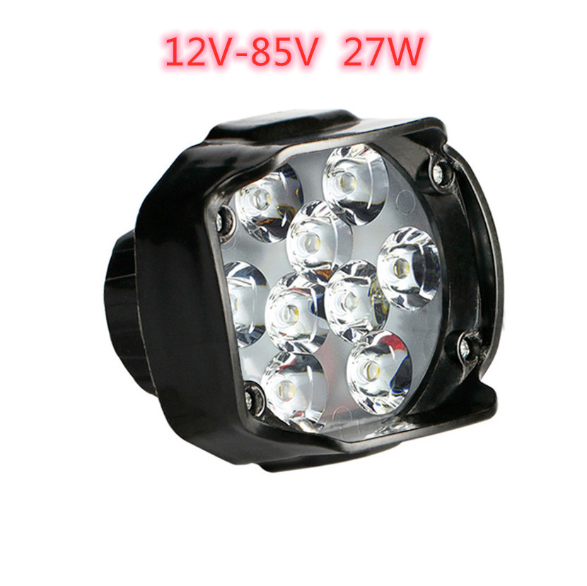 Ebike Light 9-LED 24V 36V 48V 60V 72V 27W Electric Bike Headlight Waterproof For Electric Bicycle Motorcycles Front Light