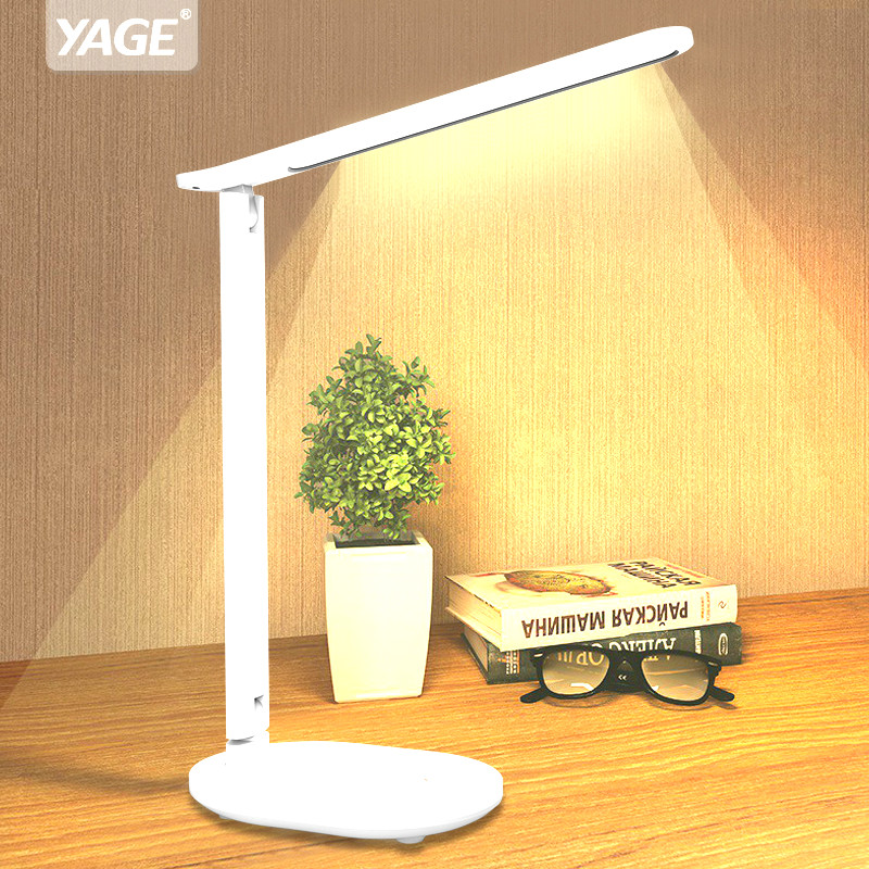 YAGE Alarm Desk lamp USB Chargeable led Table Lamp 28 LED Table lamp Reading Book Light LED Desk lamp Table Touch 3 Light Colors
