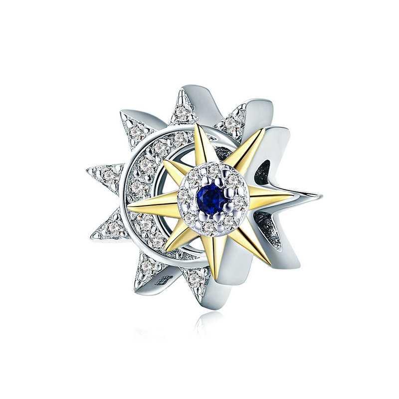 מכירה לוהטת 100% אמיתי 925 כסף סטרלינג קסמי ירח כוכב שמש חרוזים Fit מקורי פנדורה צמידי Diy תכשיטי ביצוע עבור נשים