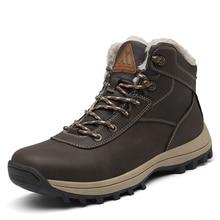 Winter Men Shoes Outdoor Snow Boots Men Warm Plush Cotton Sh