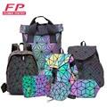 Роскошный рюкзак, женские сумки, дизайнерские светящиеся рюкзаки с геометрическим рисунком для женщин, школьные сумки для девочек, рюкзак н...
