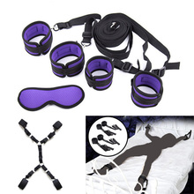 Handcuffs Bondage Erotic Under Bed Sex Restraint System Games for Adults Wrists & Ankle Cuffs Sexy Lingerie Set