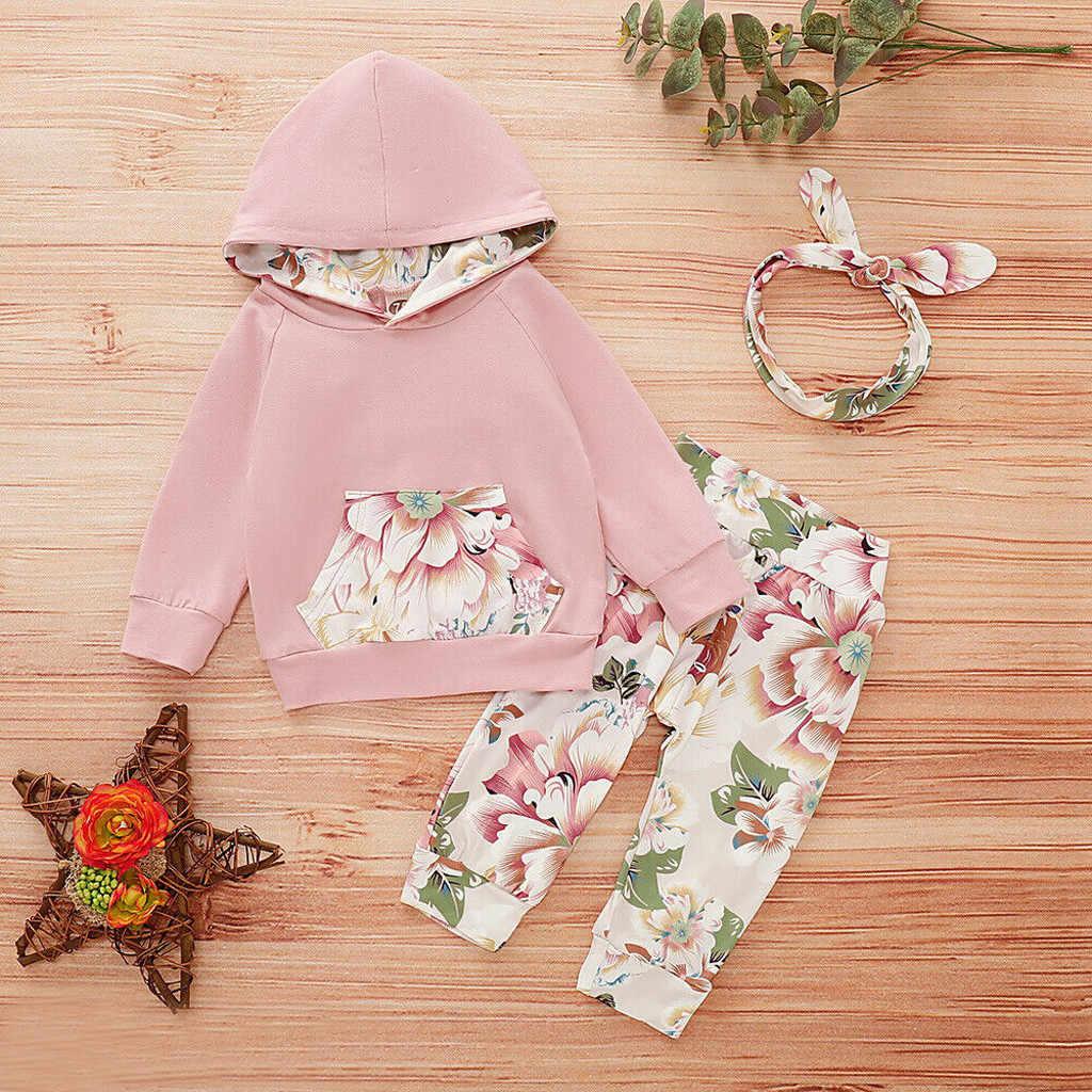2PCS Newborn Kids Baby Girls Clothes T Shirt Tops Long Pants Autumn Outfits Sets