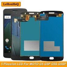 5 шт./Лот ЖК-дисплей для Motorola MOTO G5 G5 Plus G5S G5S Plus XT1670 XT1685 XT1803 XT1792 ЖК-дисплей с сенсорным экраном и дигитайзером в сборе