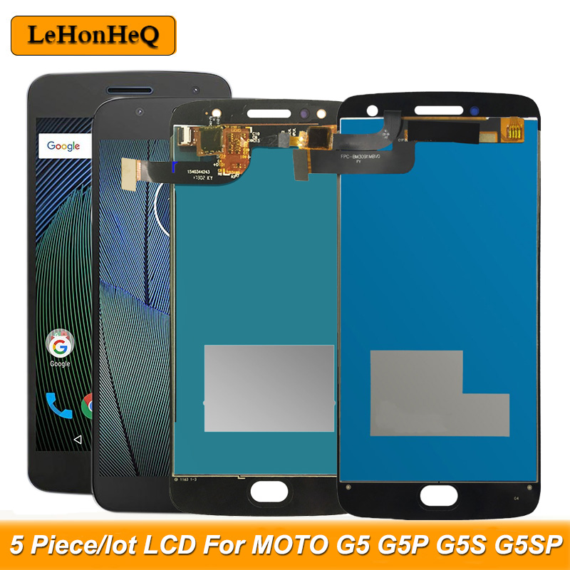 5Piece/lot <font><b>LCD</b></font> For Motorola MOTO G5 G5 Plus G5S G5S Plus XT1670 XT1685 XT1803 <font><b>XT1792</b></font> <font><b>LCD</b></font> Display touch screen digitizer assembly image