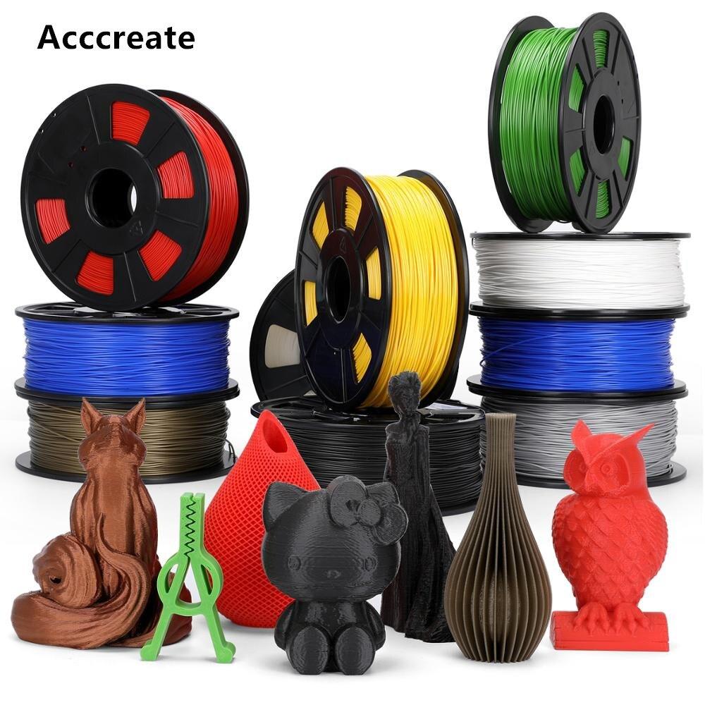 ACCCREATE 1,75 мм PLA/TPU/PETG нити 1 кг/5 кг для Creality Эндер 3/5 Pro CR-10S V2 3D-принтеры eco-friendly No-пузырь