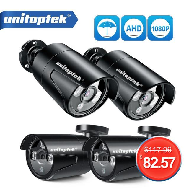 4CH 1200TVL セキュリティカメラシステム AHD CCTV システム Diy キットは 4 × 1080 1080P 2.0MP セキュリティカメラ Ir 屋外 AHD H 監視セット