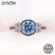 925 prata esterlina anel para as mulheres criado pedra preciosa londres azul topázio rosa chapeamento de ouro luxo presentes aniversário jóias finas