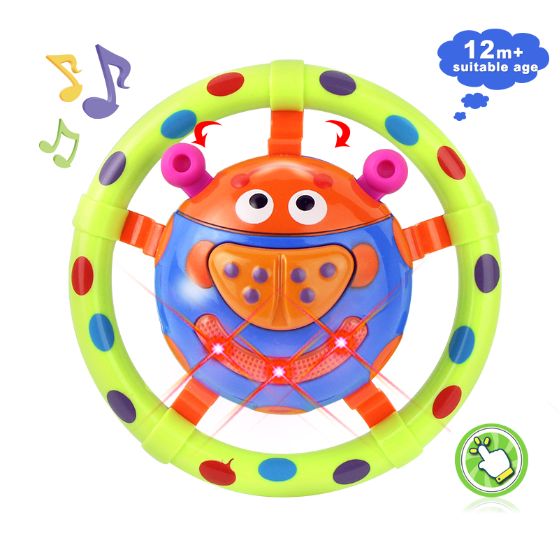 Baby New Infant Musical Toys Sound And Light Ladybug Shaped Baby Rattles Toy Grasping Flashing Mobiles Funny Toy For Kids Gift