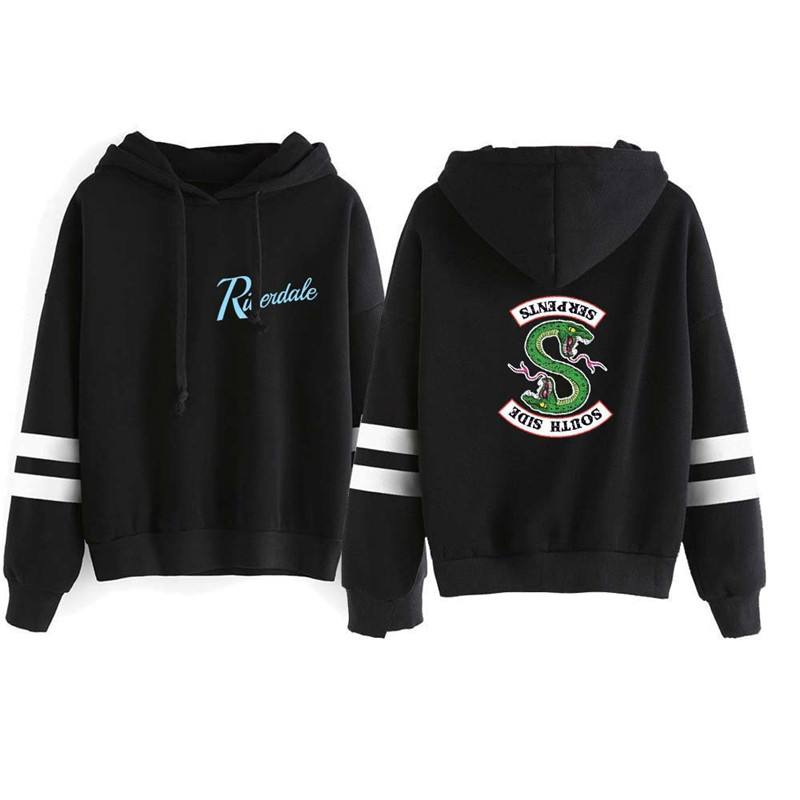 Riverdale Southside Serpents Hoodies Sweatshirts MenS Women South Side Serpents Hoodie Long Sleeve Striped Pullover Top Oversize 19