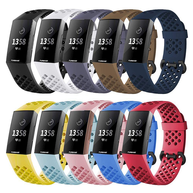 Strap For Fitbit Charge 4 Band Silicone Charge 3 3SE Wristband Waterproof Wristband Bracelet Correa For Fitbit Smart Watch Band