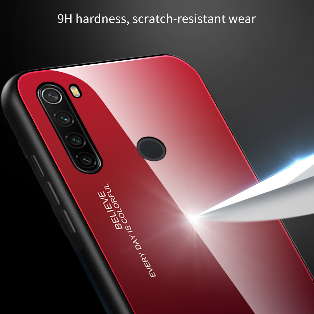 Shockproof Tempered Glass Cover For Xiaomi Redmi Note 8 T Gradient Bumper Shell For Redmi Note 8 Pro 8 8T 4