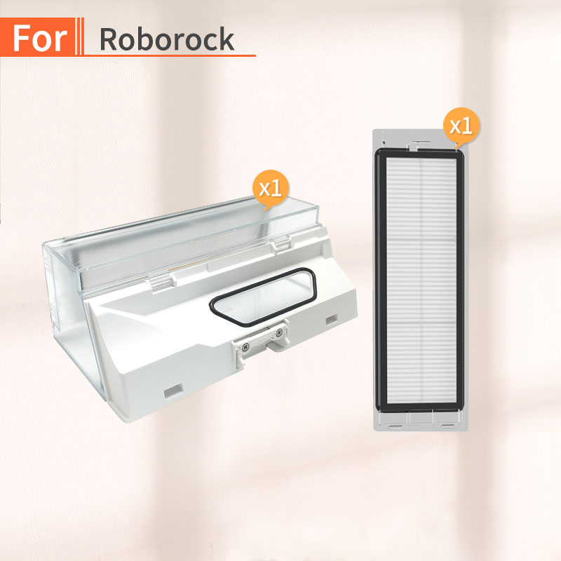Robot Vacuum Cleaner Dust Box For Millet 1 Generation 2 Generations Or Roborock S55 S51 S50 Side Brush Filter Parts