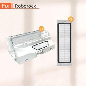 Image 1 - 로봇 진공 청소기 먼지 상자 Xiaomi Mijia Mi 1 세대 2 세대 또는 Roborock S55 S51 S50 측면 브러시 필터 부품