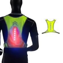 Noite ao ar livre equitação correndo colete reflexivo segurança esportes aviso bicicleta ciclismo jogging coletes guiando luz led