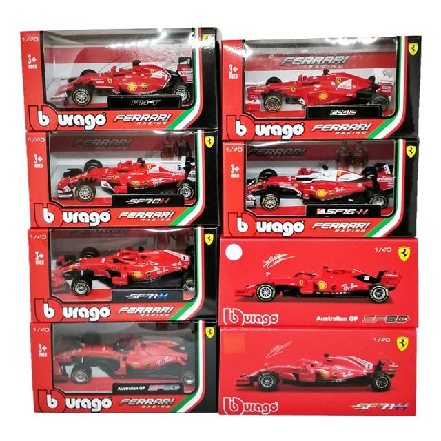 BBurago 1:43 F1 SF90 2019 SF14T 2014 Nr7 Kimi Raikkonen 2015 SF15T Nr5 Sebastian Vettel F2012 #6 Felipe Massa Diecast Model Car