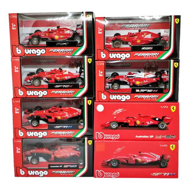 BBurago 1:43 F1 SF90 2019 SF14T 2014 Nr7 קימי Raikkonen 2015 SF15T Nr5 סבסטיאן Vettel F2012 #6 פליפה מאסה diecast דגם רכב