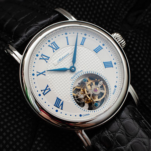 Image 4 - ספיר חיוג Mens Tourbillon שעונים מקורי ST8000 תנועה תנין עור גברים מכאני שעון יד למעלה מותג