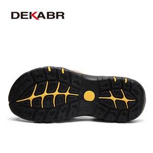 Image 2 - DEKABR חדש זכר נעלי עור אמיתי גברים סנדלי קיץ גברים נעלי חוף סנדלי איש אופנה חיצוני מקרית סניקרס גודל 48