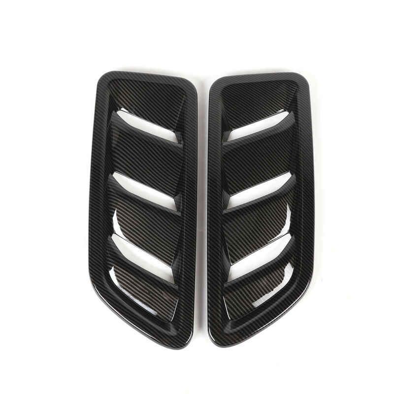 1 пара Передняя вытяжка двигателя вентиляционное отверстие крышка отделка для Jeep Wrangler JL 18-19