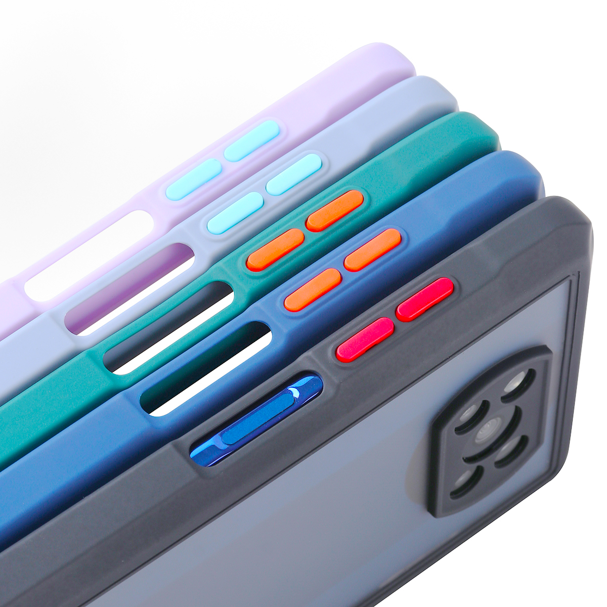 Xiaomi-funda trasera mate con NFC Poco X3, protección a prueba de golpes para PC + TPU, piel de bebé, con forma de moda, recubrimiento antidedos