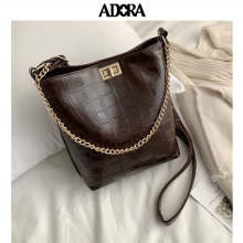 Vintage Bucket Bag Luxury Handbag Women Designer Famous Brand PU Messenger Crossbody Shoulder