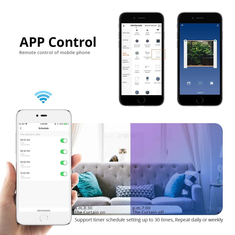 H0e3c35bac6224f03834065d4d5f70978Y - Zemismart Electric Curtain with Kinetic Switch Tuya Smart Life WiFi Control Alexa Google Home Control