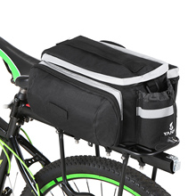цена на Bicycle Rear Rack Bag Multifunction Expandable Waterproof MTB Bicycle Pannier Bag Bike Seat Pannier with Rain Cover