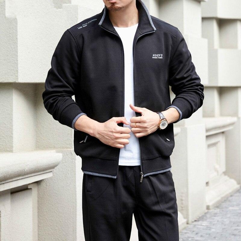 Big Plus Size 8xl Men's Set Spring Autumn Cotton Man Sportswear 2 Piece Sets Sports Suit Jacket+pant Sweatsuit Male Tracksuit