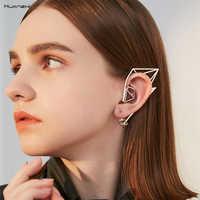 HUANZHI 2019 Neue Design Ohr Manschette Ohrringe Elfen Metall Quaste Kein Piercing Gefälschte Knorpel Ohrringe Für Frauen Mädchen Partei Schmuck