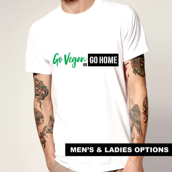 Vegan T-Shirt Go Vegan Joke Gift Idea Vegetarian Gluten Free Foodie Hippie Funny