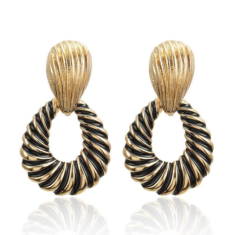 CARTER LISA 2019 New Fashion  Statement Jewelry Gold Metal Earrings For Women Indian Bijoux Brincos Bohemian Waterdrop Earrings