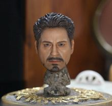 "1/6 scale figure doll accessories Iron Man Tony Stark head sculpt for 12"" action figure doll.not include body and other A0499(China)"