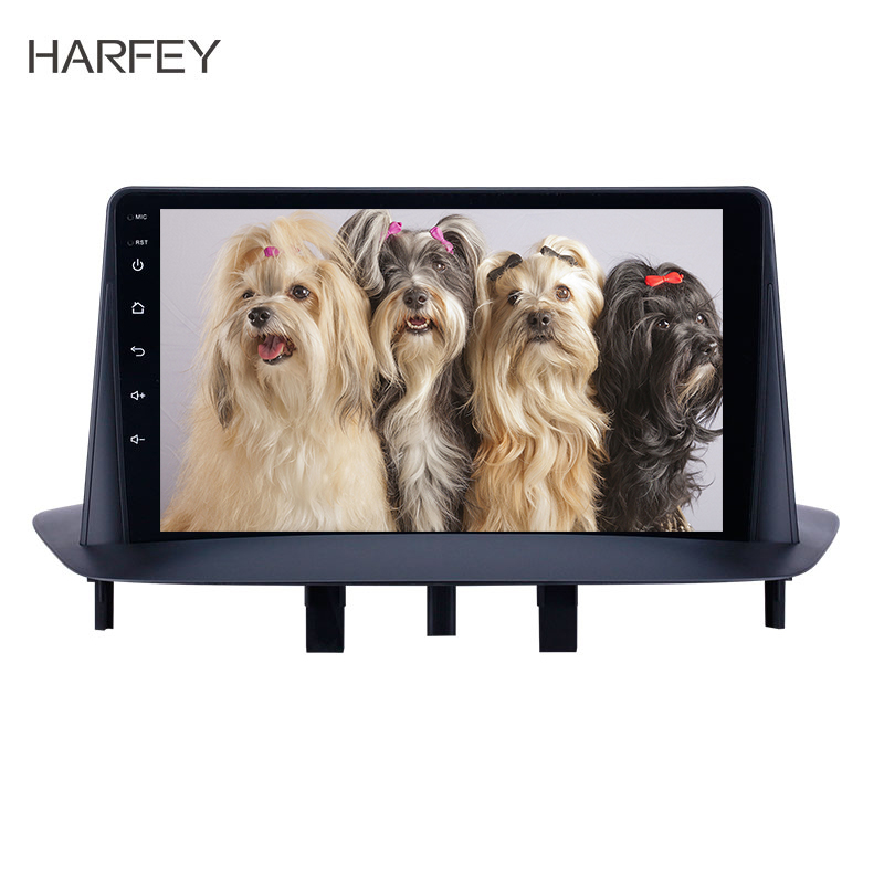 Harfey 9 inch HD Touchscreen <font><b>GPS</b></font> Navigation Car Radio Android 8.1 for Renault <font><b>Megane</b></font> <font><b>3</b></font> 2009-2014 support Carplay Bluetooth SWC image